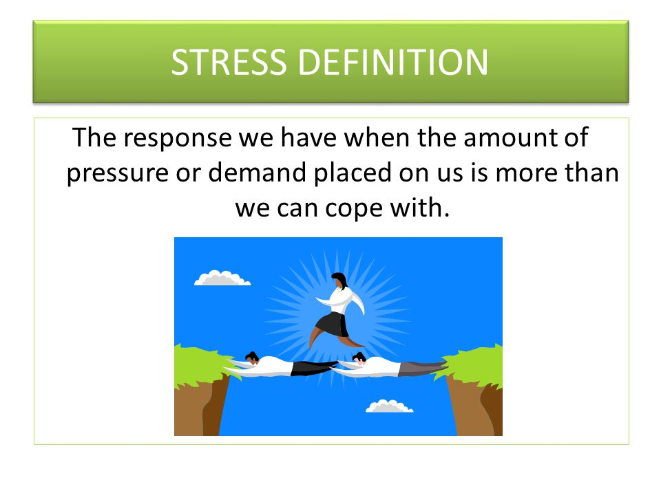 Changing Stress-related Thinking Thinking ErrorMeaningExample CatastrophisingYou assume the worst case scenario. What if I don't do a good job – I'll get fired! All or Nothing thinkingThings are black or white with no shades of grey.