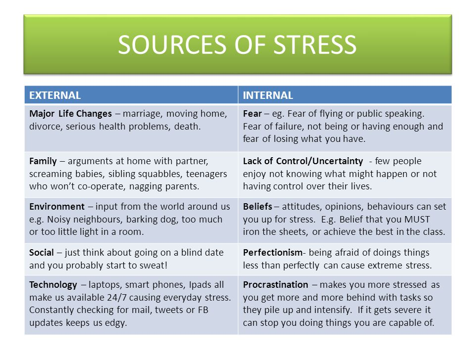 HSE's Top 6 Workplace Stressors 1.Demands of the job.