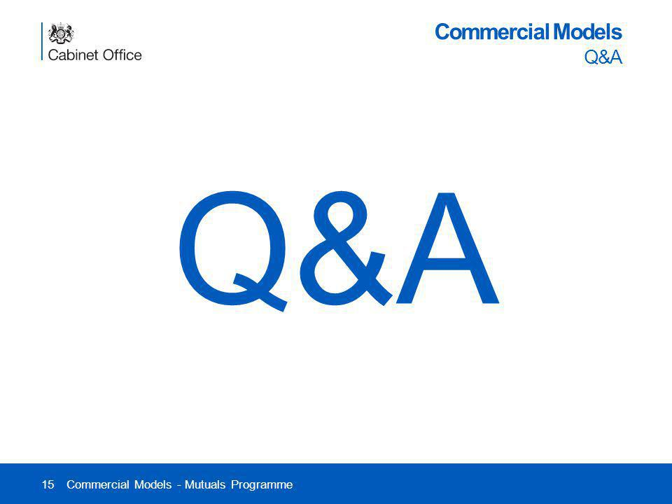15 Commercial Models Q&A Commercial Models - Mutuals Programme Q&A