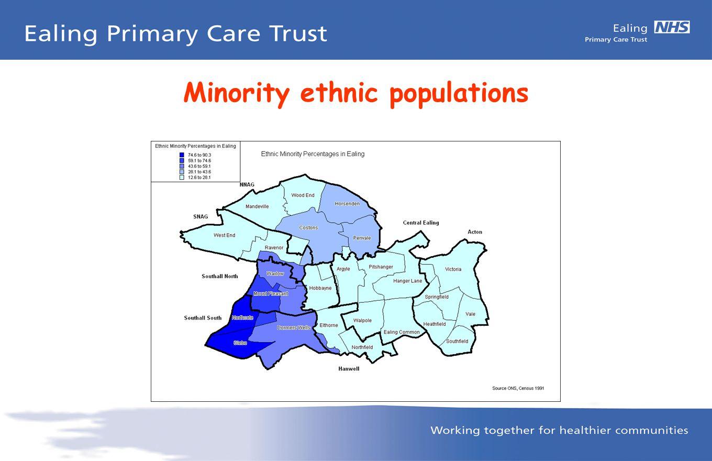 Minority ethnic populations