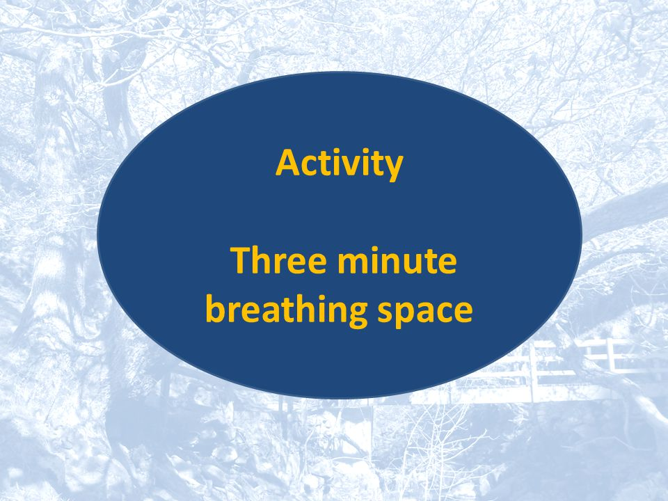 Activity Three minute breathing space