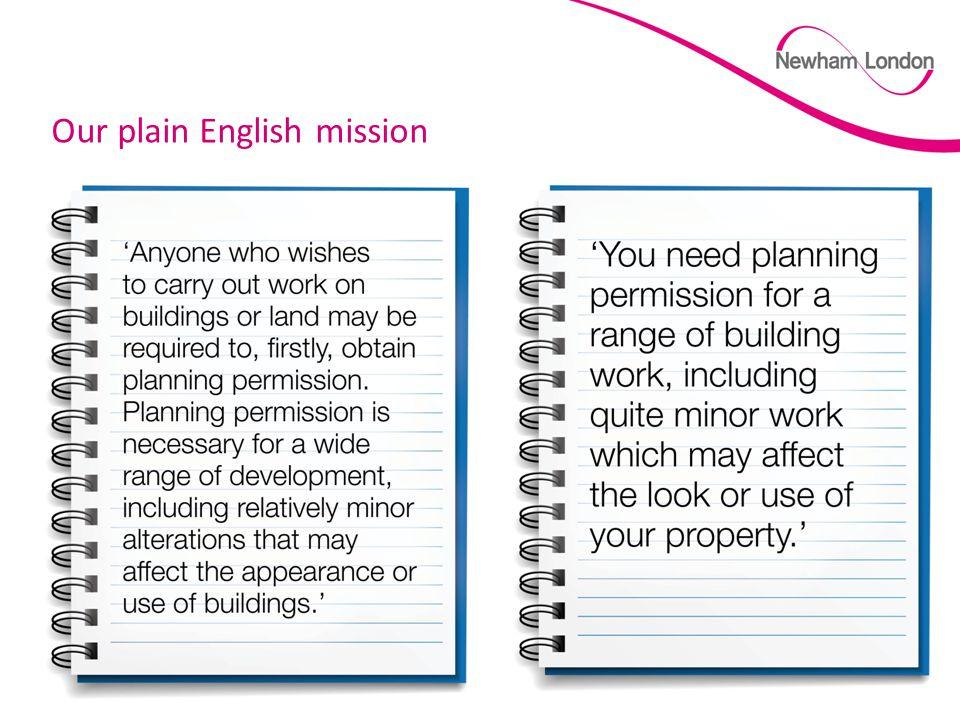 Slide 8 Our plain English mission
