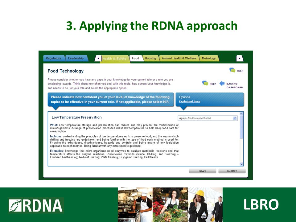 LBRO 3. Applying the RDNA approach