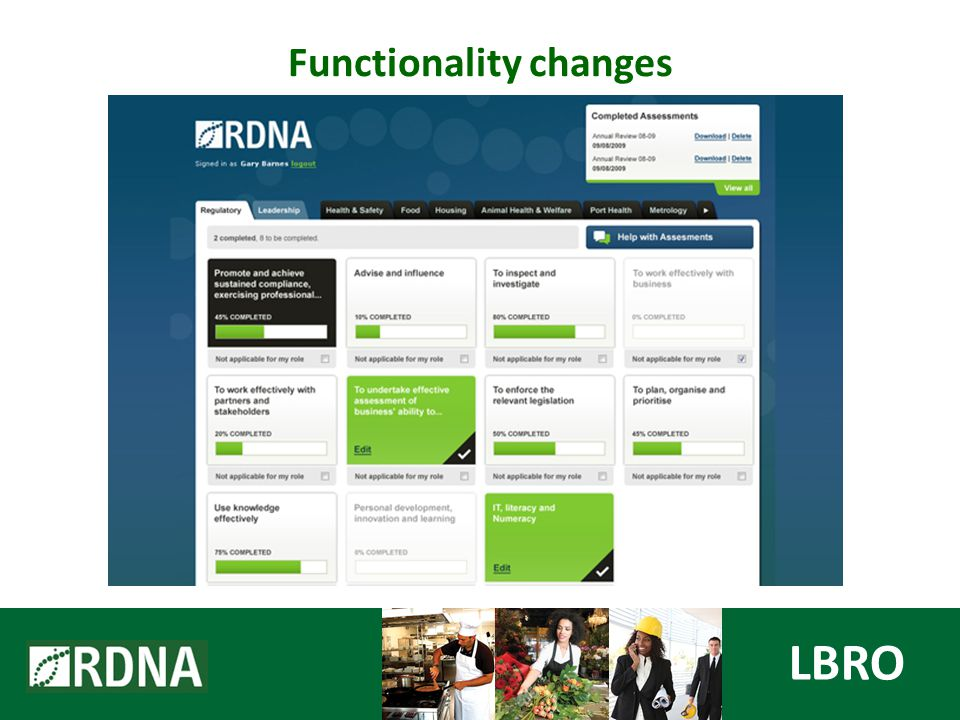 Functionality changes LBRO