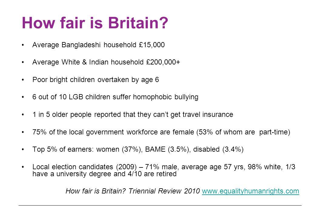 How fair is Britain.