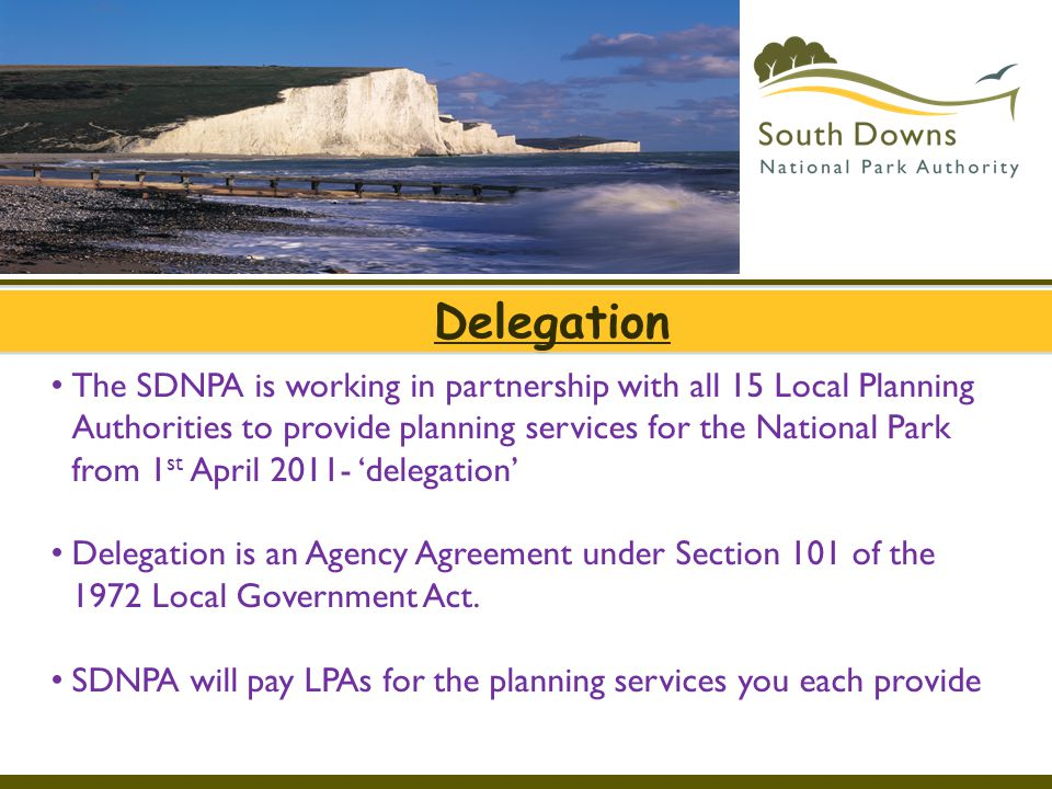 Link Officer Role Interface between LA's and SDNPA Weekly Lists of applications Pre-application discussion and enquiries.