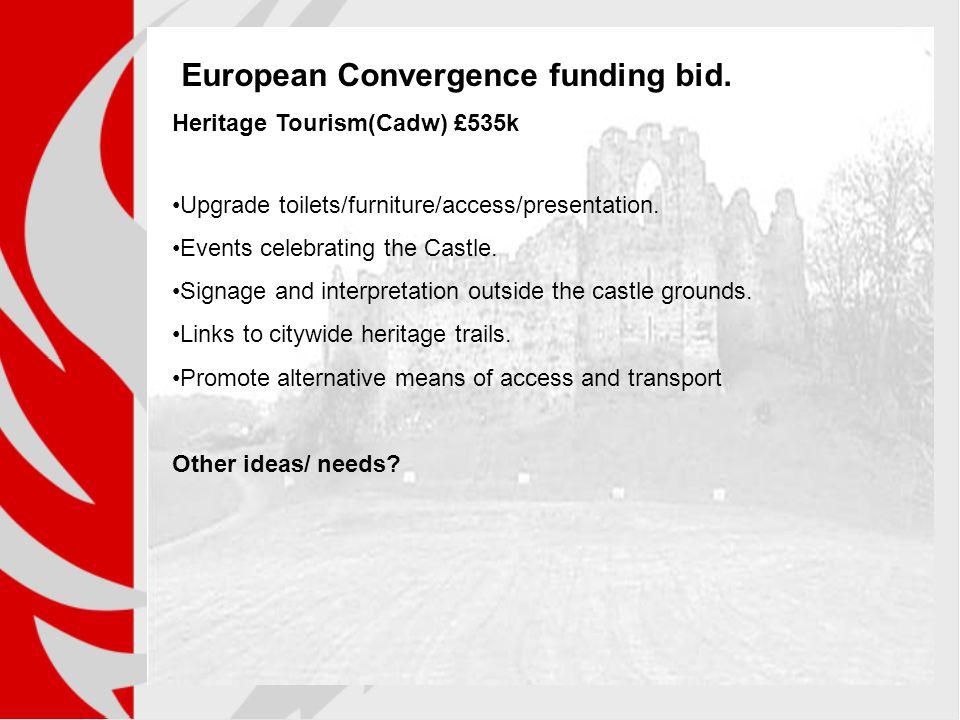 European Convergence funding bid.