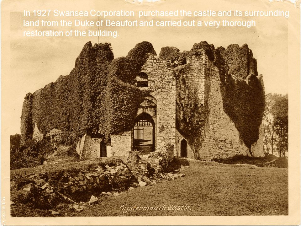 1989 The Friends of Oystermouth Castle were formed, opening the castle to the public.
