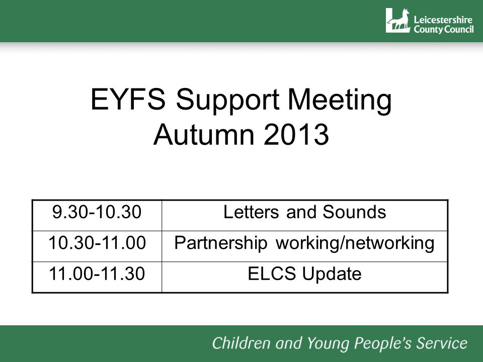 Letters and Sounds Phase 1 Childminders, PVI settings, other early years provision Phases 2 - 6: Schools www.foundationyears.org.uk