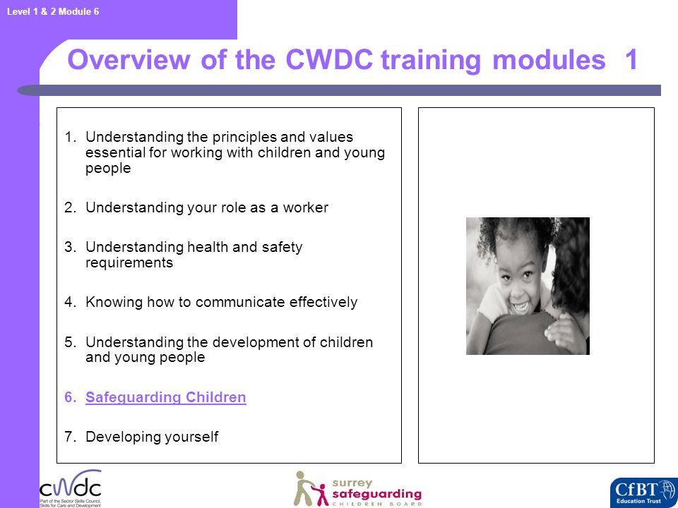 Level 1 & 2 Module 6 Vulnerability 22 Children may be more vulnerable to being harmed if they are: Babies Disabled Children who are picked on as being different Children who are already thought of as a problem e.g.