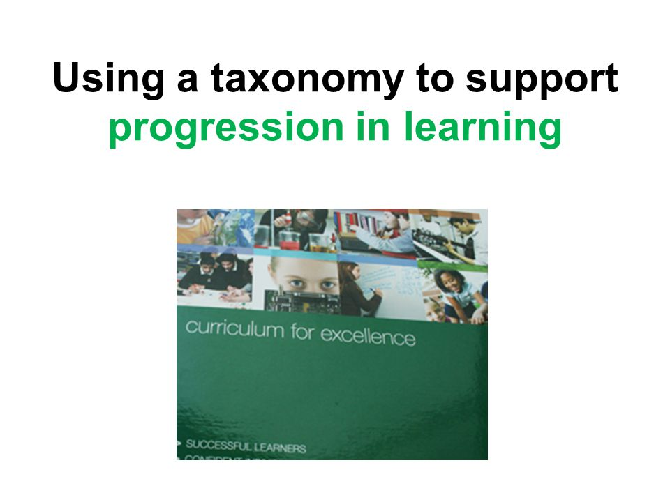 Using a taxonomy to support progression in learning
