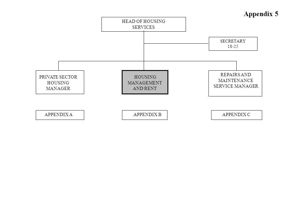 Housing Management and Rent Appendix 1B (i)/(ii) Senior Housing Management and Rent Officer 38-41 Senior Homelessness/ Supported Housing Officer 38-41 Appendix B Appendix 1 B(iii)
