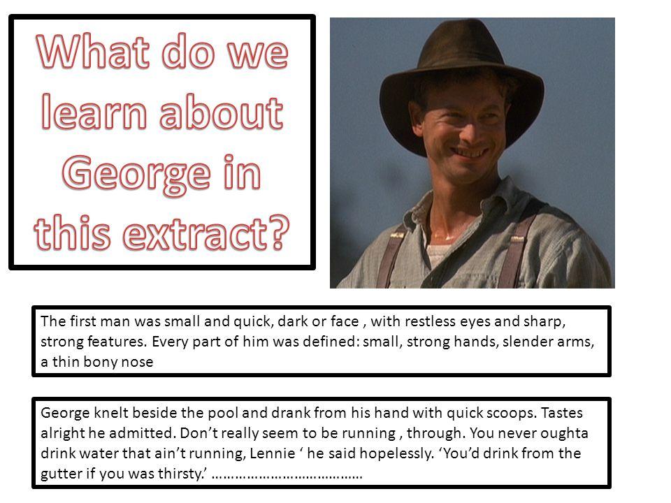 His voice grew more persuasive.'S'pose George don't come back no more.
