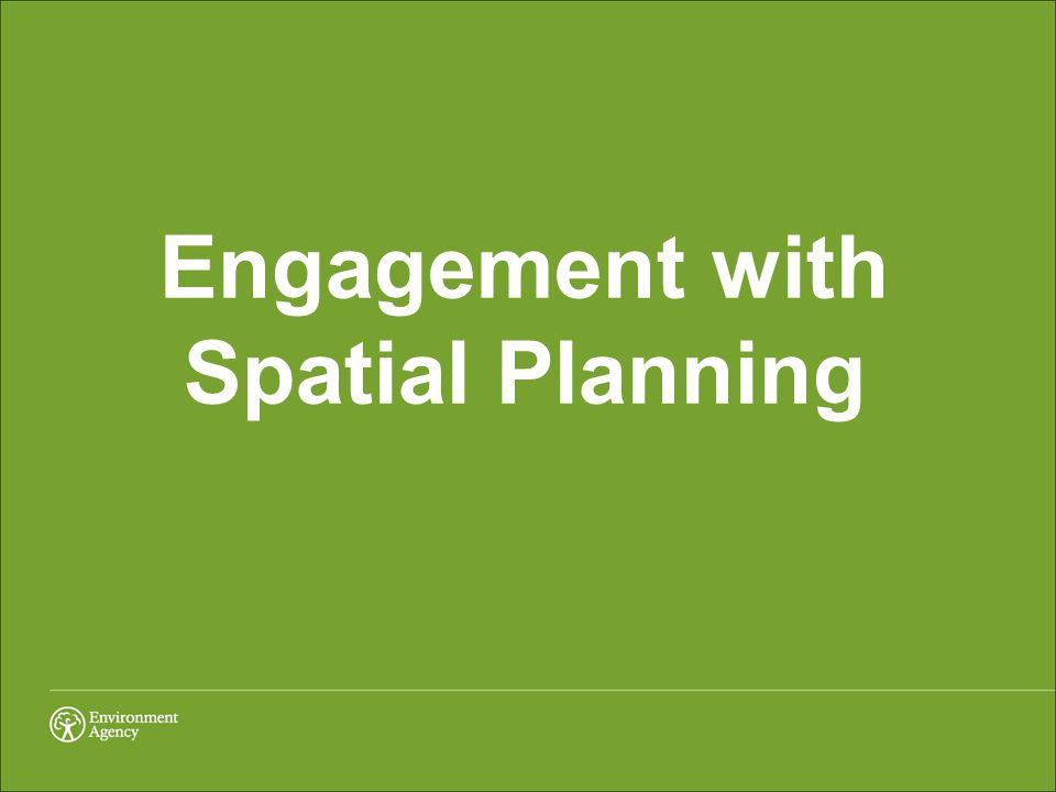 Engagement with Spatial Planning