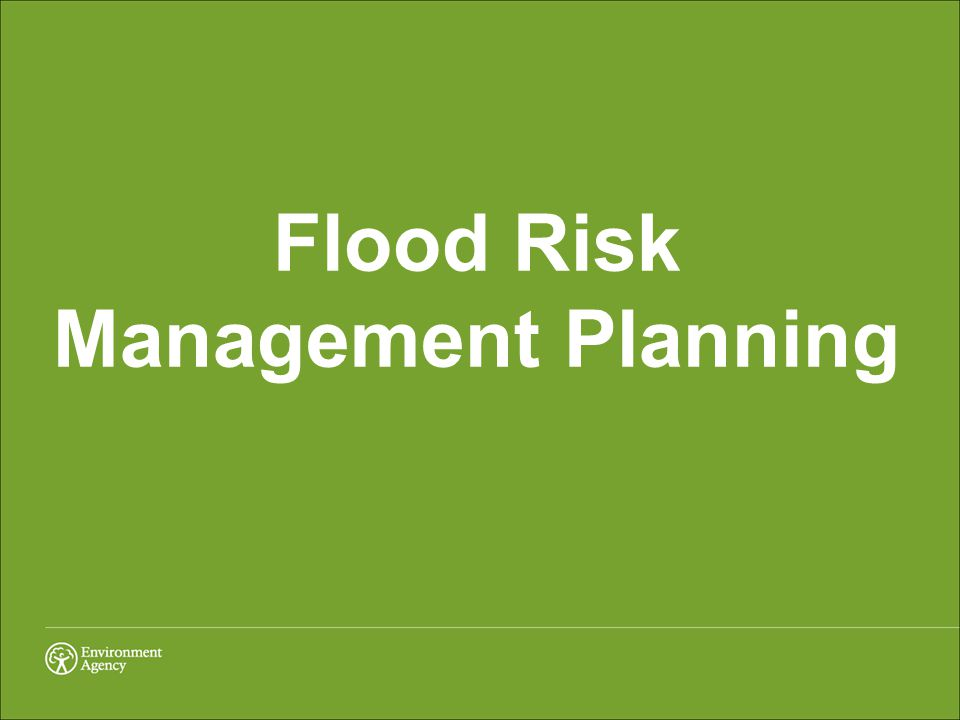 Flood Risk Management Planning