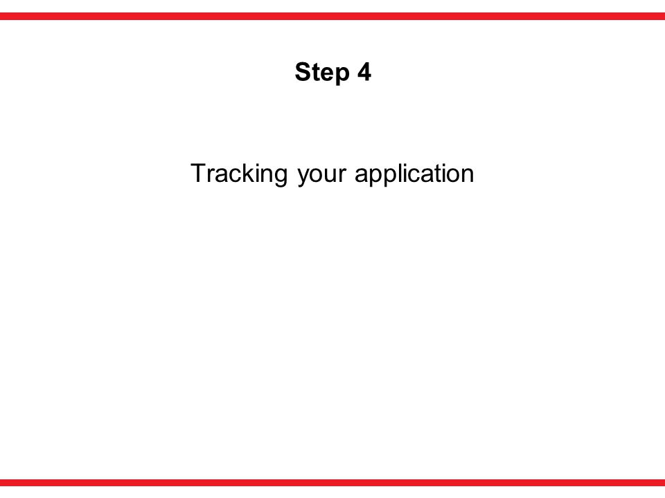 Step 4 Tracking your application