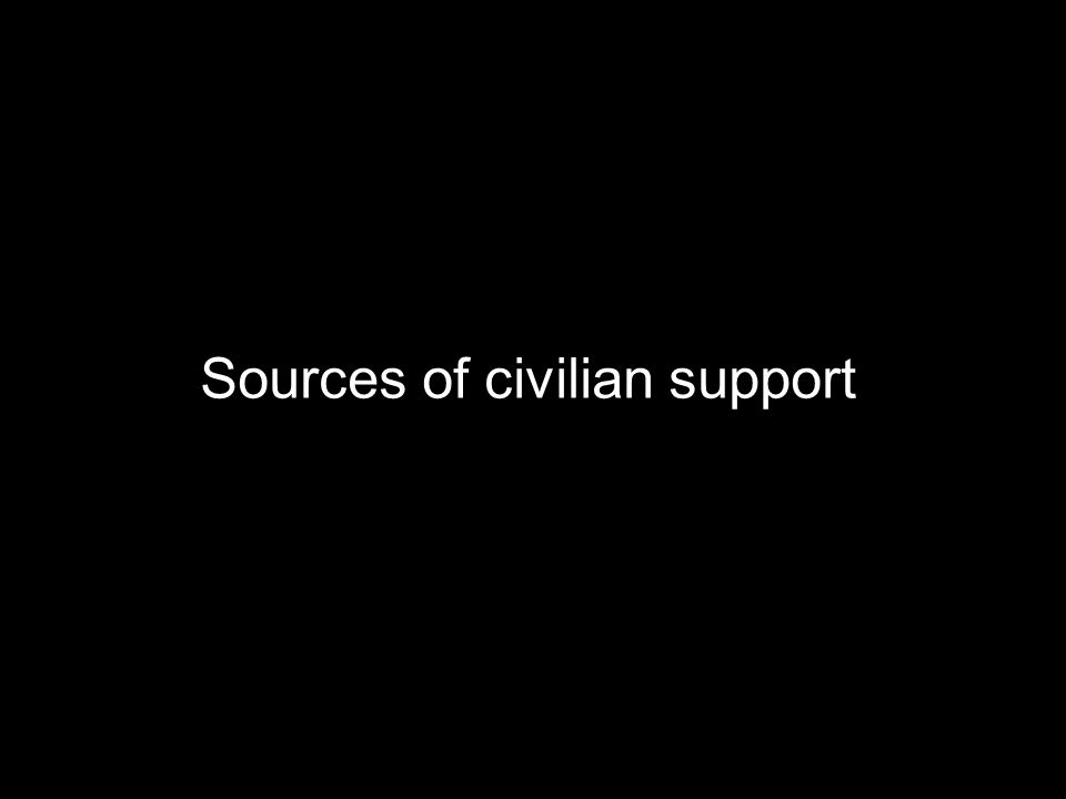 Sources of civilian support