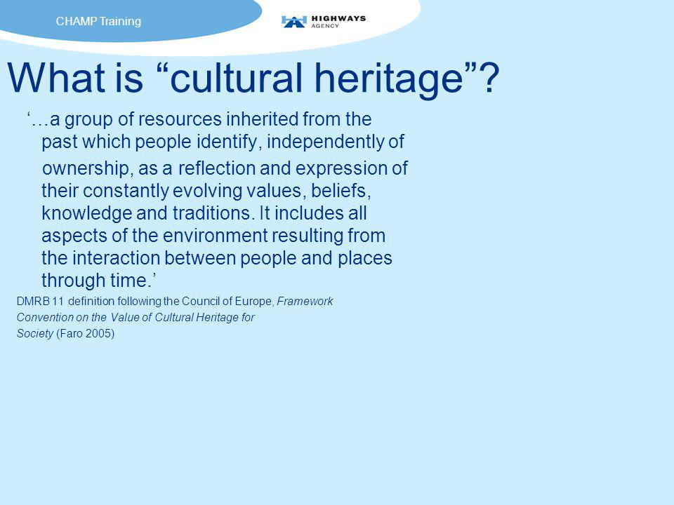 What is cultural heritage .