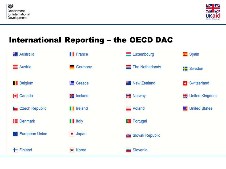 International Reporting – the OECD DAC