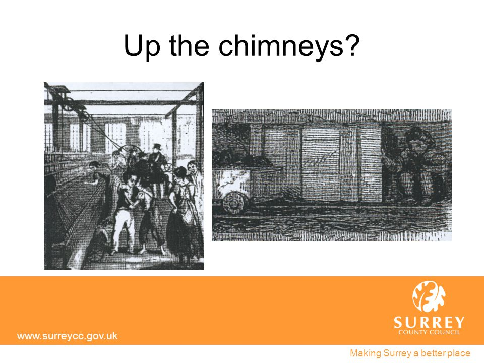 Up the chimneys? www.surreycc.gov.uk Making Surrey a better place