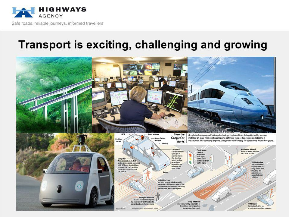 Transport is exciting, challenging and growing