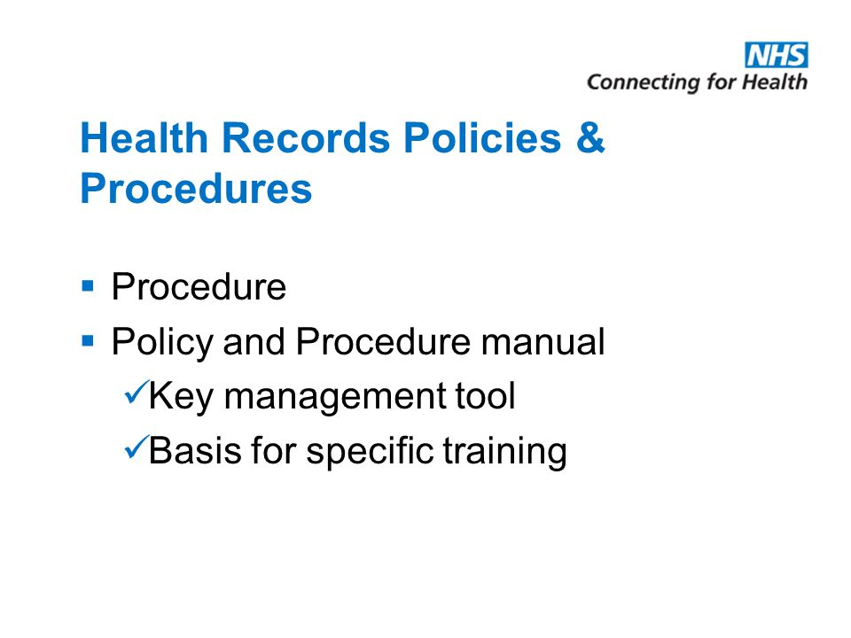 Auditing Health Records Policies & Procedures – The Audit Cycle The audit cycle