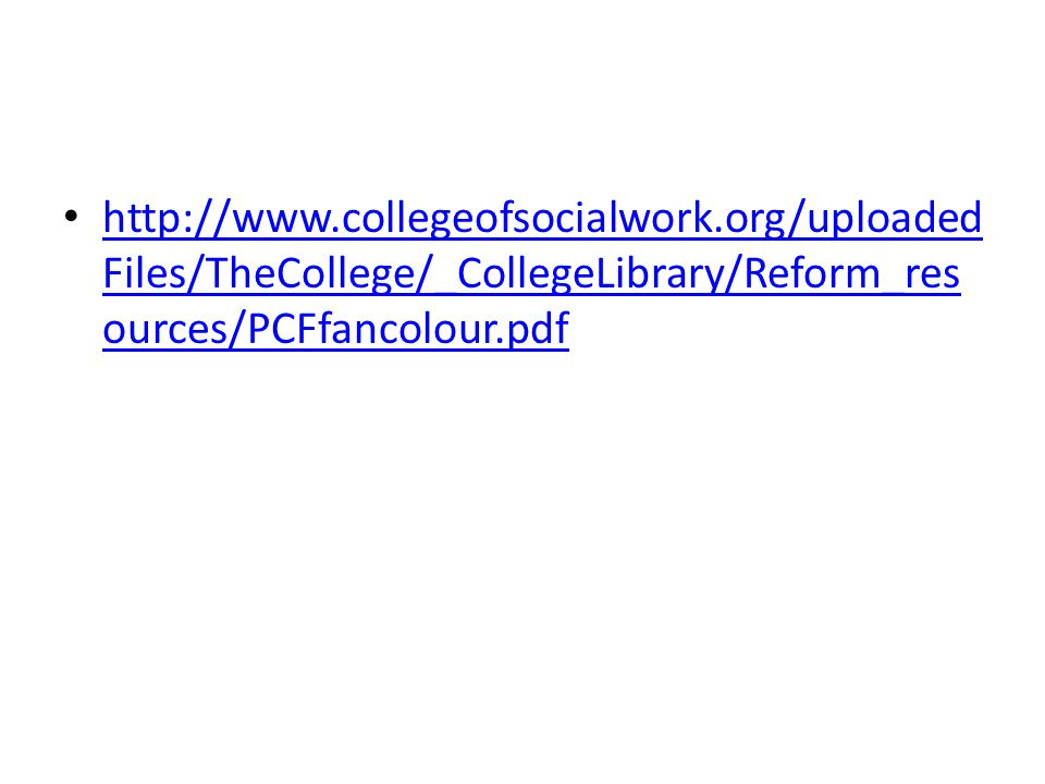 http://www.collegeofsocialwork.org/uploaded Files/TheCollege/_CollegeLibrary/Reform_res ources/PCFfancolour.pdf http://www.collegeofsocialwork.org/upl