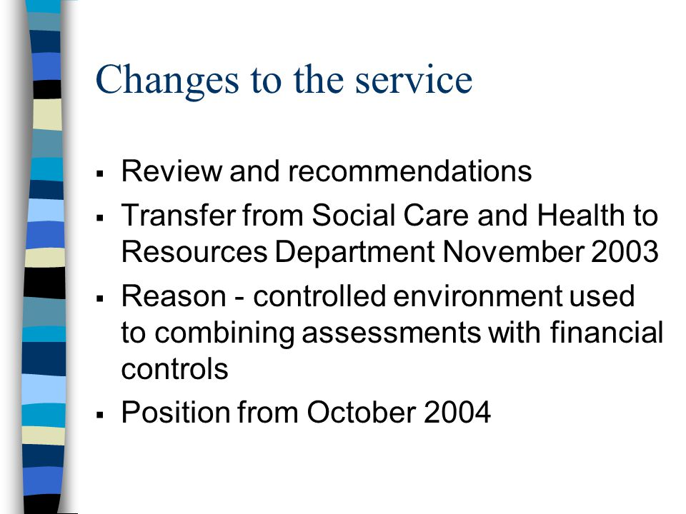 Financial Issues  Overspend  Management action  Special circumstances letter for additional grant  Projected caseload to April 2005