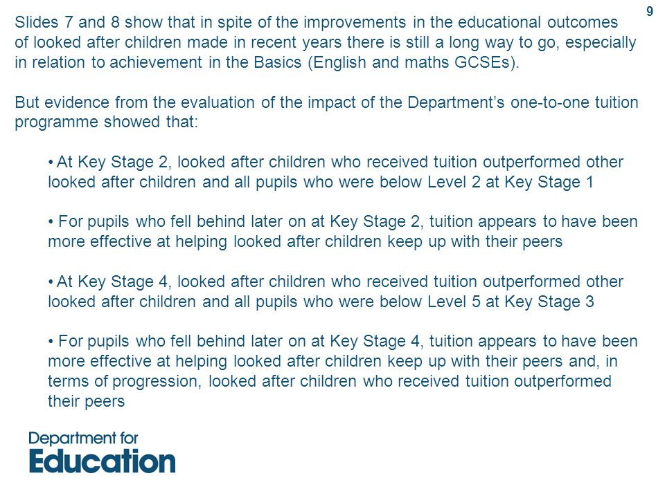 Next steps and future publications This data pack emphasises some of the complex challenges that are faced by looked after children in England.