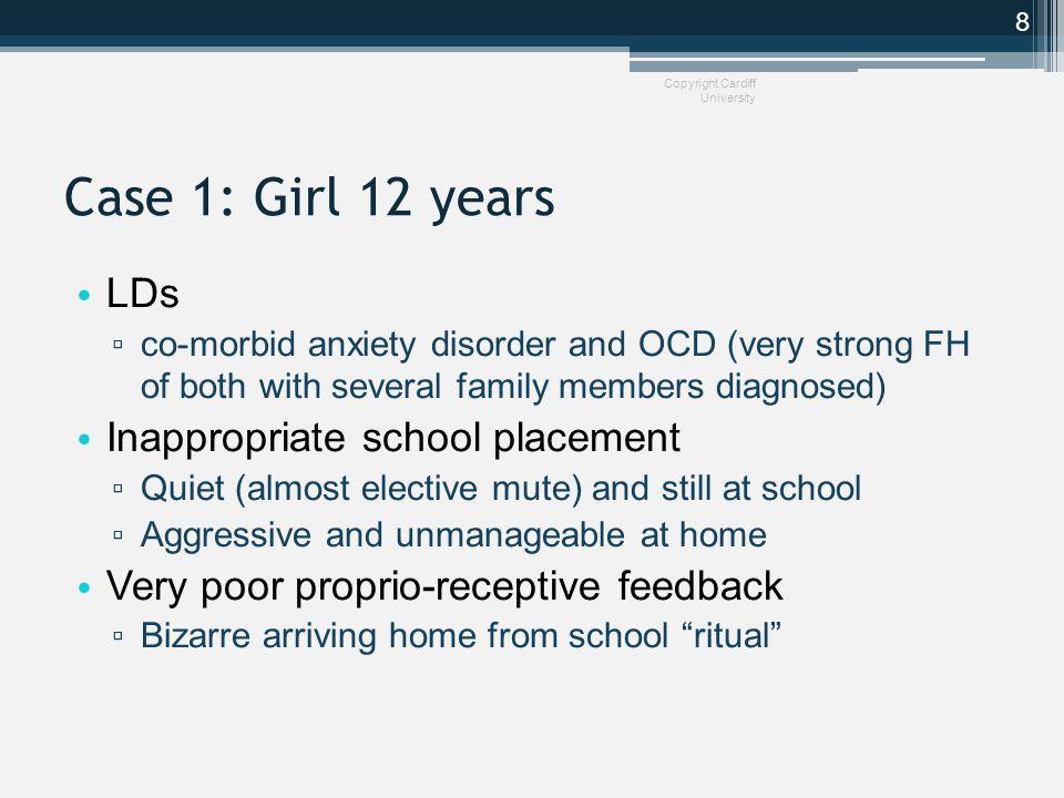 SPA shifting children along the spectrum Copyright Cardiff University AutismAutismCuspTraits normal (severe)(mild) SPAAnxiety Low mood 9