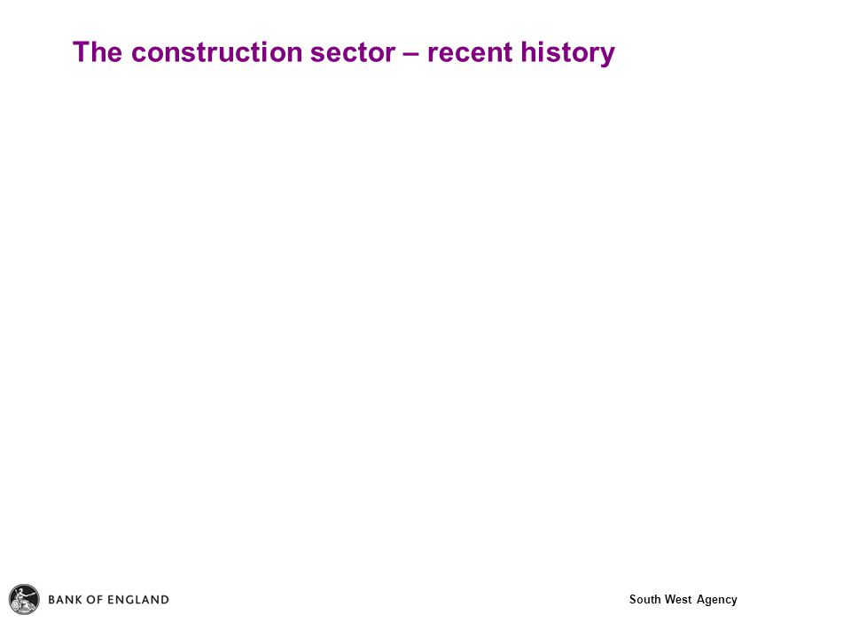 South West Agency The construction sector – recent history