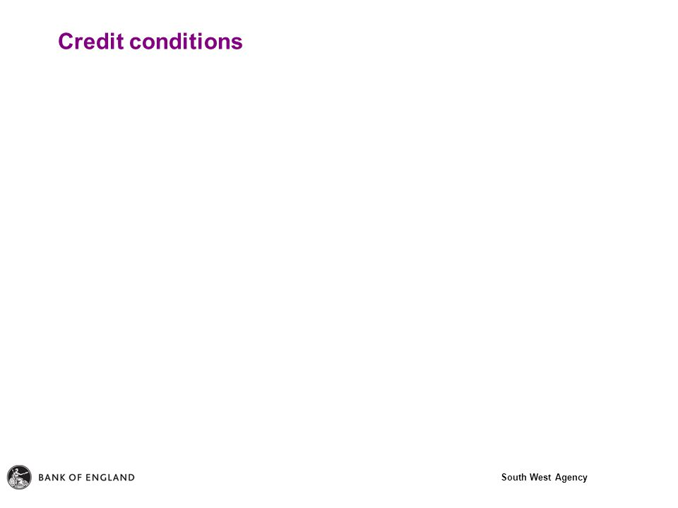 South West Agency Credit conditions