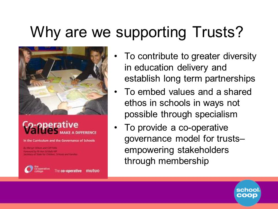 Why are we supporting Trusts.