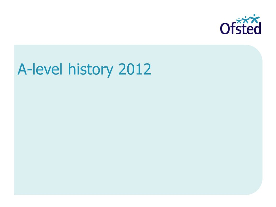 A-level history 2012