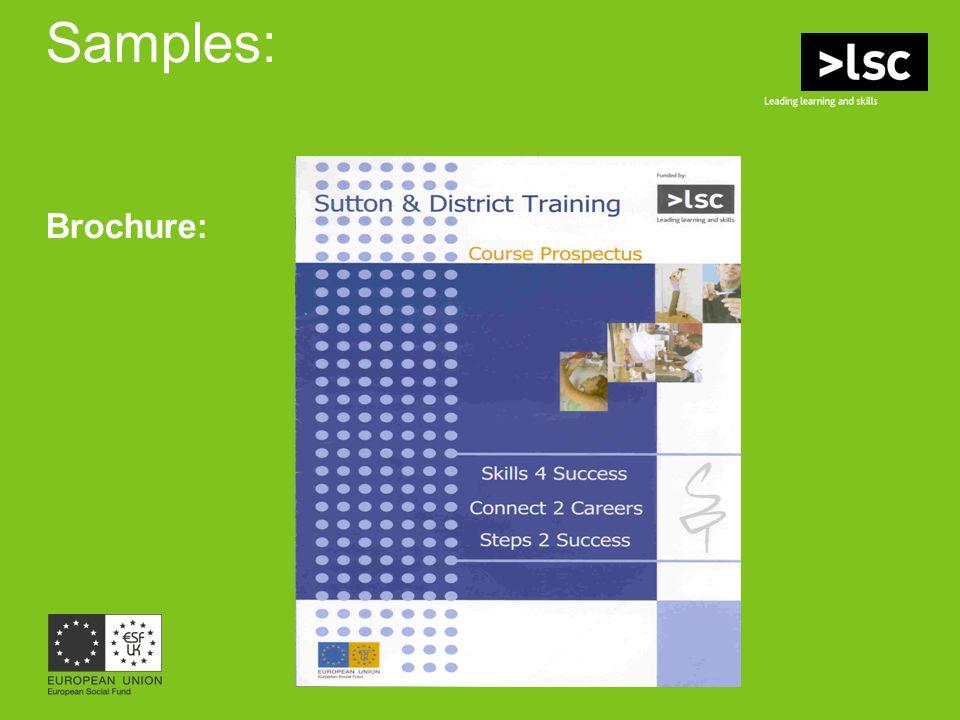 Samples: Brochure: