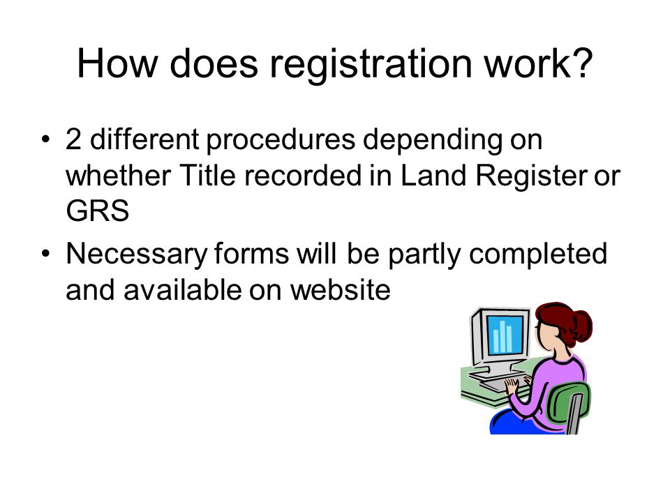 How does registration work.