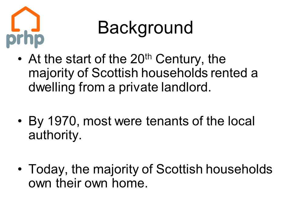In 1914, private landlords owned an estimated 90 out of every 100 dwellings.