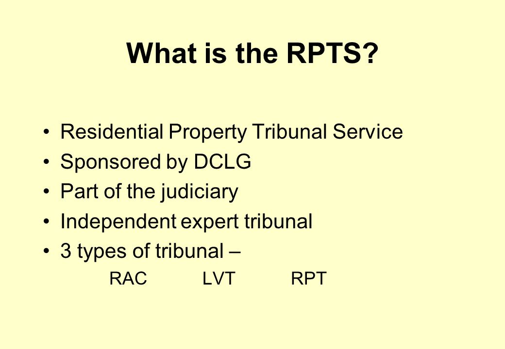 What is the RPTS.