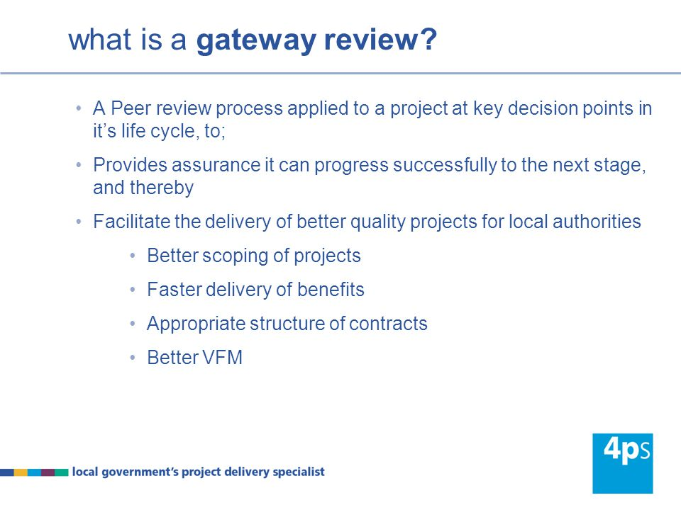 what is a gateway review.