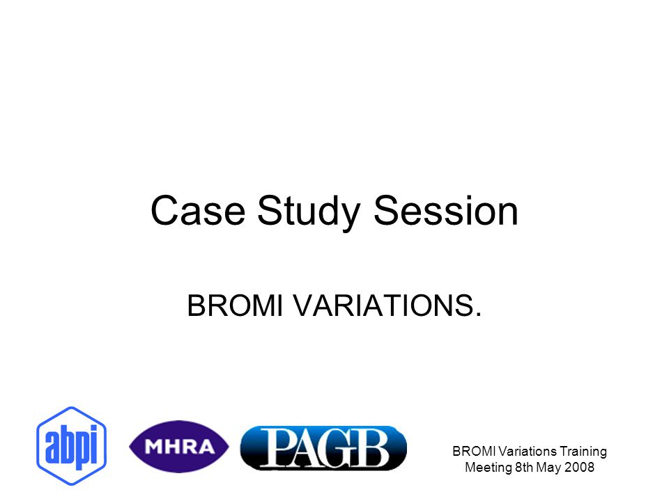 BROMI Variations Training Meeting 8th May 2008 APPLICATION FORM.