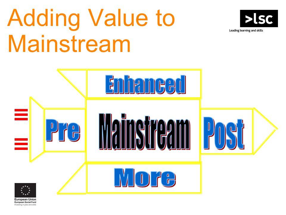 Adding Value to Mainstream