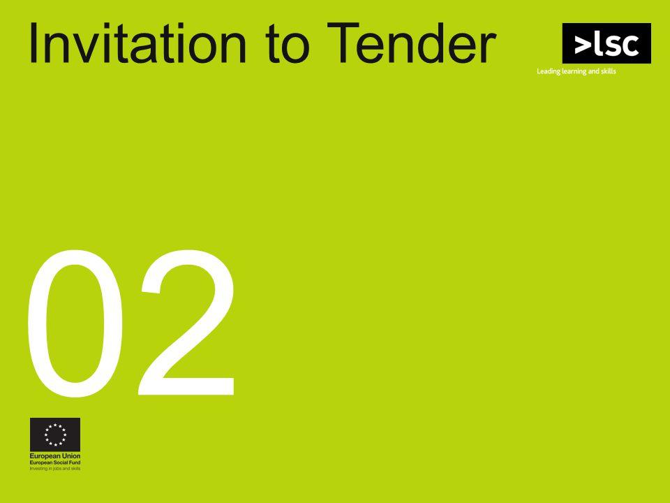 Invitation to Tender SW Regional ITTs 02