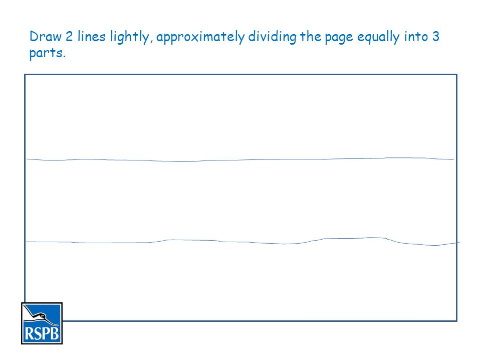 Looking at the landscape view draw in the HORIZON using the top line as a guide.