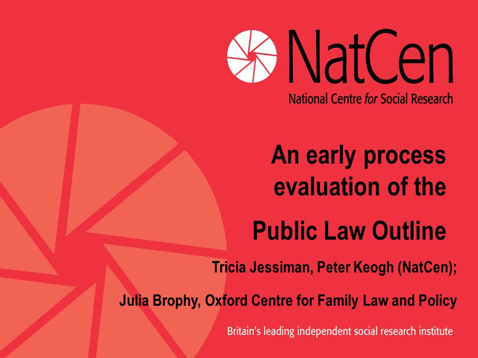 Study funded by the Ministry of Justice Summary of the Public Law Outline Other factors impacting on Care Proceedings at the time of the study Parameters of the study Quant and qual methods Findings and implications