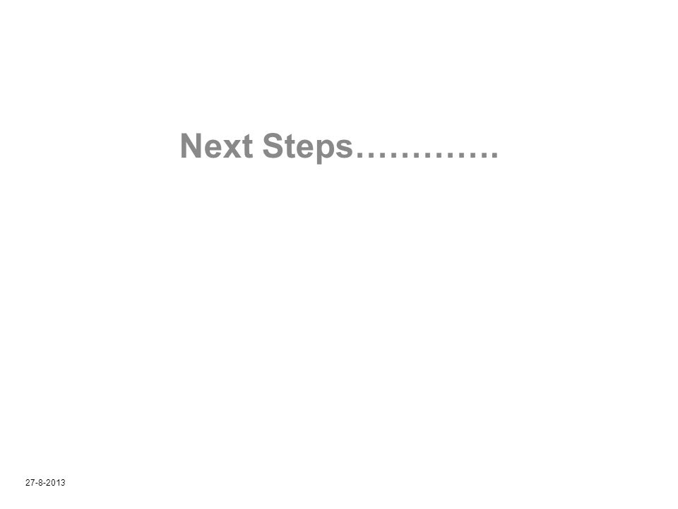 Next Steps…………. 27-8-2013