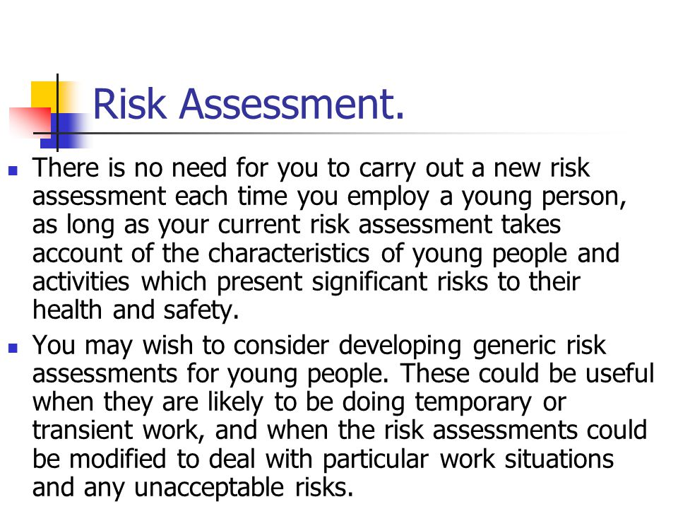 Risk Assessment.