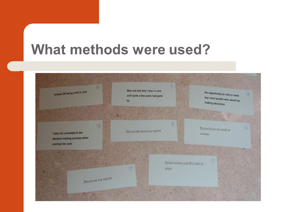 What methods were used?
