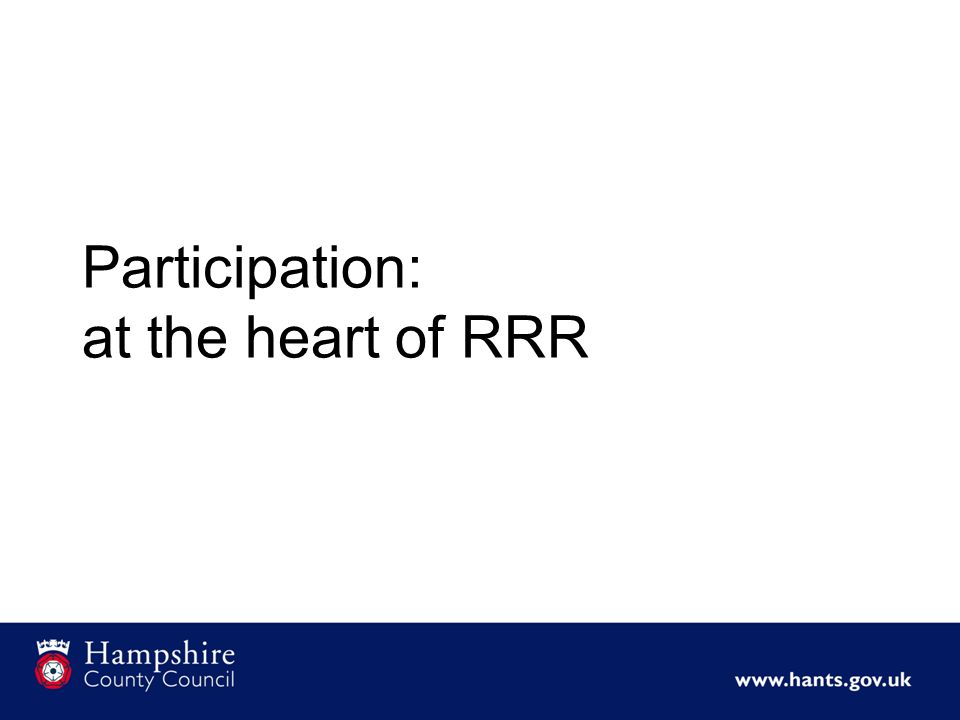 Participation: at the heart of RRR