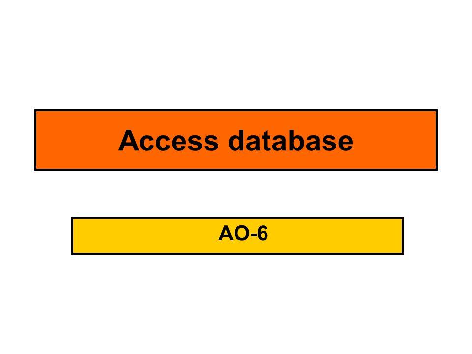 Access database AO-6
