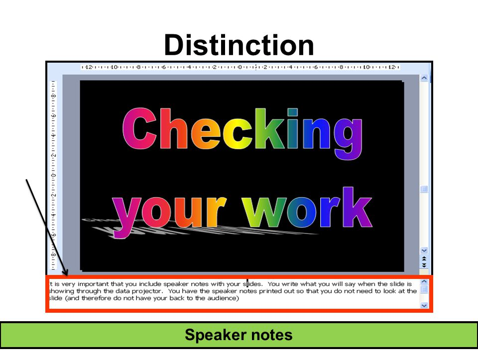 Distinction Speaker notes